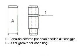 Направляющая втулка клапана METELLI 01-1540