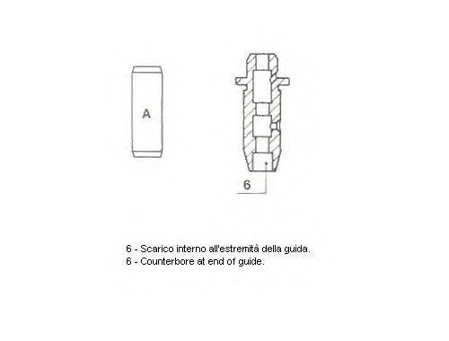 Направляющая втулка клапана METELLI 01-1314