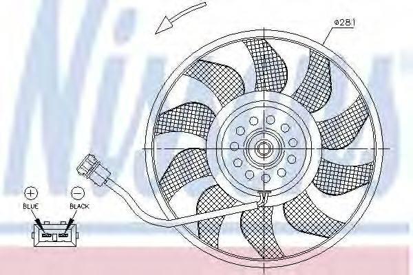 Вентилятор, охлаждение двигателя NISSENS 85618
