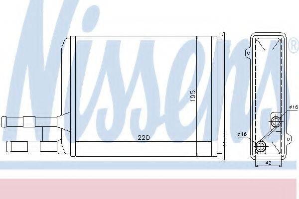 Теплообменник, отопление салона NISSENS 73984