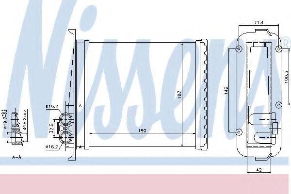 Теплообменник, отопление салона NISSENS 73640