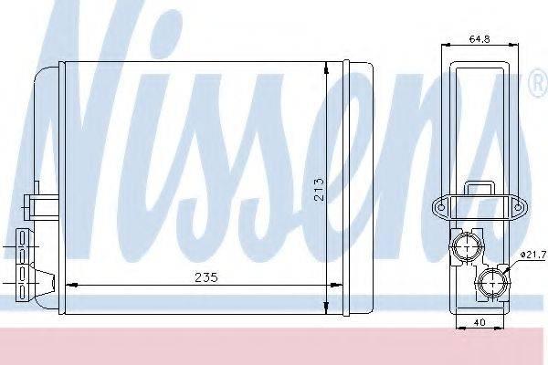 Теплообменник, отопление салона NISSENS 73641