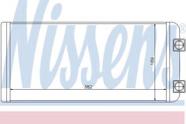 Теплообменник, отопление салона NISSENS 73643