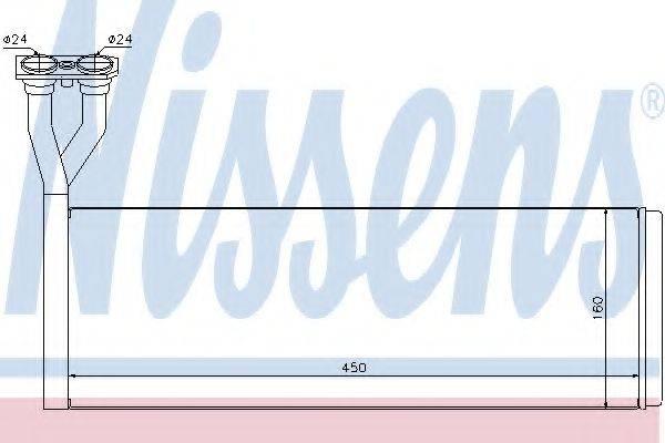 Теплообменник, отопление салона NISSENS 75005