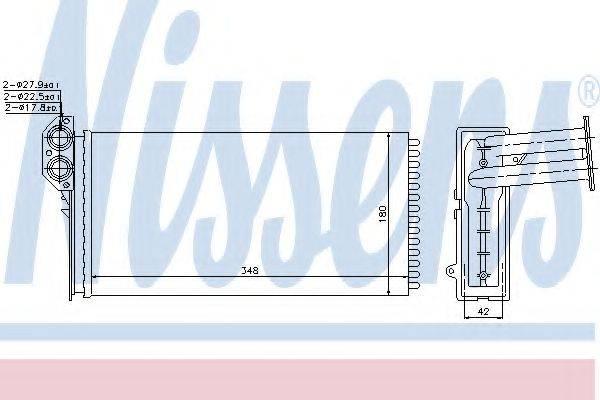 Теплообменник, отопление салона NISSENS 73941