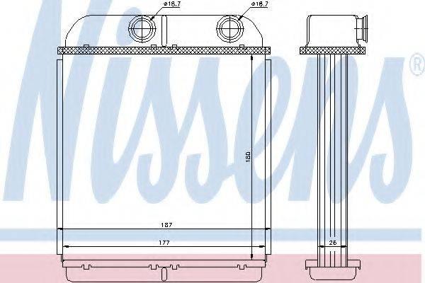 Теплообменник, отопление салона NISSENS 73644