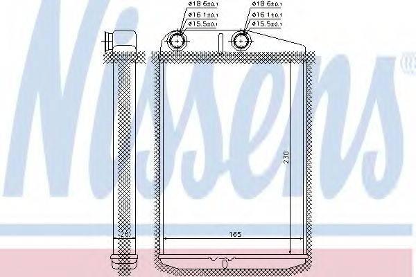 Теплообменник, отопление салона NISSENS 73989