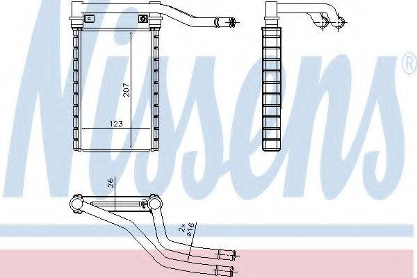 Теплообменник, отопление салона NISSENS 73991