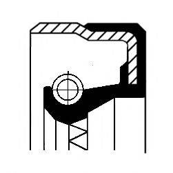 Уплотняющее кольцо, дифференциал CORTECO 01031574B