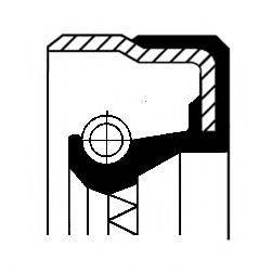 Уплотняющее кольцо, ступица колеса CORTECO 01019888B