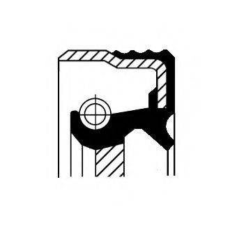 Уплотняющее кольцо, коленчатый вал CORTECO 01016759B