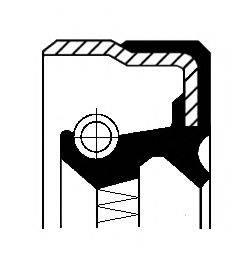 Уплотняющее кольцо, ступенчатая коробка передач CORTECO 01019886B