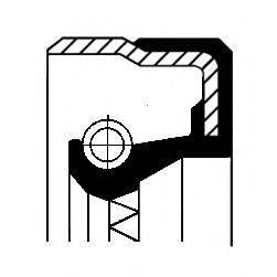 Уплотняющее кольцо, ступица колеса CORTECO 01033874B