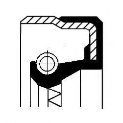 Уплотняющее кольцо, ступица колеса CORTECO 01029660B