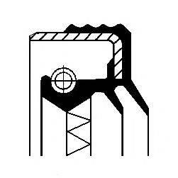 Уплотняющее кольцо, ступица колеса CORTECO 01019352B