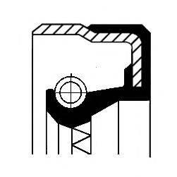 Уплотняющее кольцо, ступица колеса CORTECO 01019245B