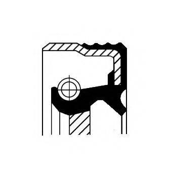 Уплотнительное кольцо вала, насос гидроусилителя CORTECO 01020304B
