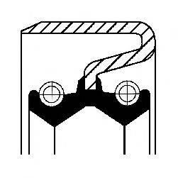 Уплотнительное кольцо CORTECO 01031700B