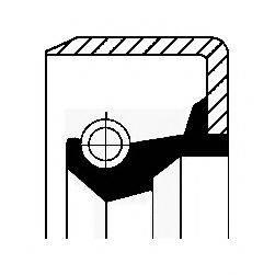 Уплотнительное кольцо, тормозная колодка CORTECO 01017009B