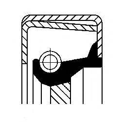 Уплотняющее кольцо вала, масляный насос CORTECO 01020400B