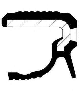 Уплотняющее кольцо, коленчатый вал CORTECO 20036307B