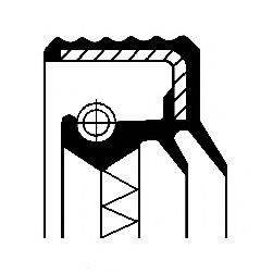 Уплотняющее кольцо, ступица колеса CORTECO 01016917B