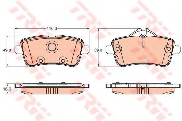 Комплект тормозных колодок, дисковый тормоз TRW GDB1947