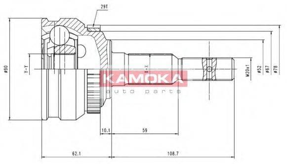 Шарнирный комплект, приводной вал KAMOKA 6956