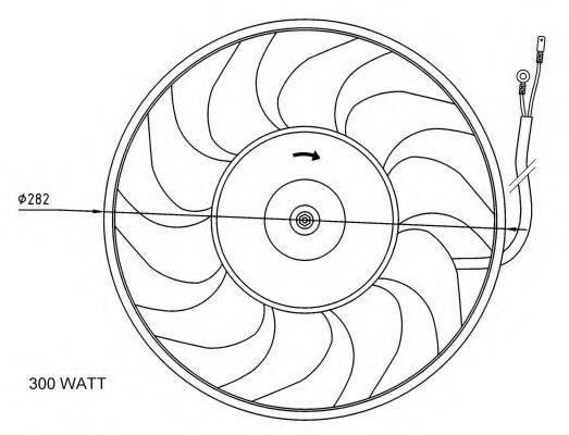 Вентилятор, охлаждение двигателя NRF 47072