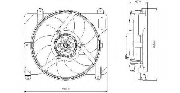 Вентилятор, охлаждение двигателя NRF 47255