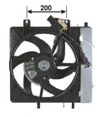 Вентилятор, охлаждение двигателя NRF 47335