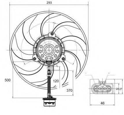 Вентилятор, охлаждение двигателя NRF 47373