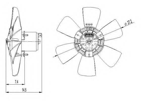 Вентилятор, охлаждение двигателя NRF 47390