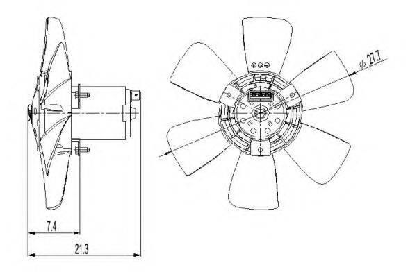 Вентилятор, охлаждение двигателя NRF 47391
