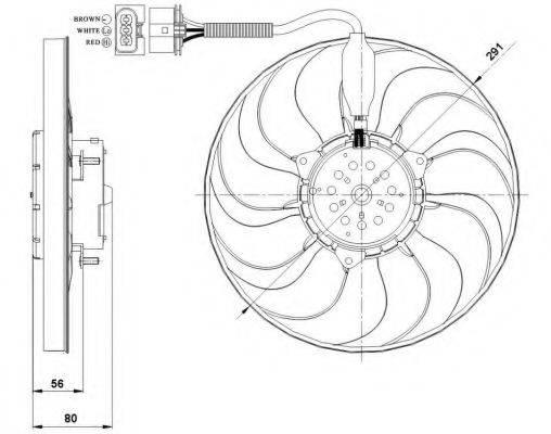 Вентилятор, охлаждение двигателя NRF 47392