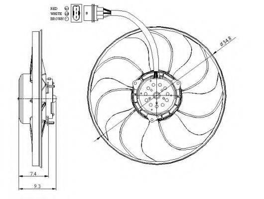 Вентилятор, охлаждение двигателя NRF 47393