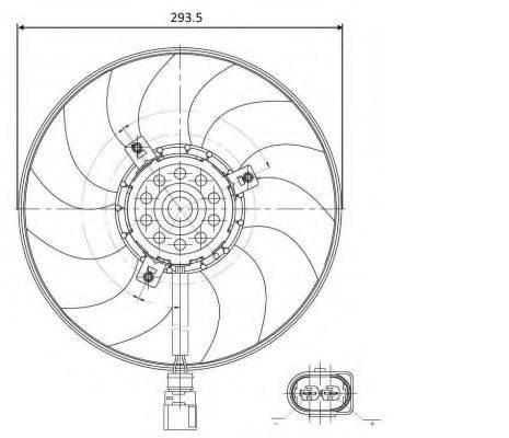 Вентилятор, охлаждение двигателя NRF 47395