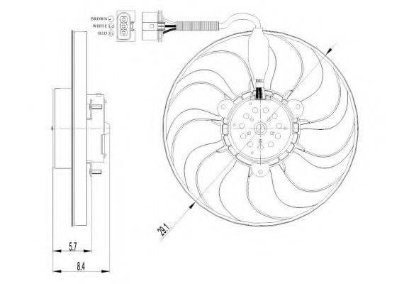 Вентилятор, охлаждение двигателя NRF 47398