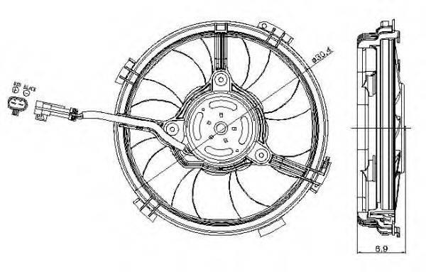 Вентилятор, охлаждение двигателя NRF 47405