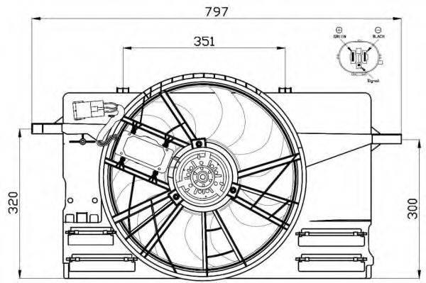 Вентилятор, охлаждение двигателя NRF 47412