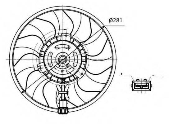 Вентилятор, охлаждение двигателя NRF 47418