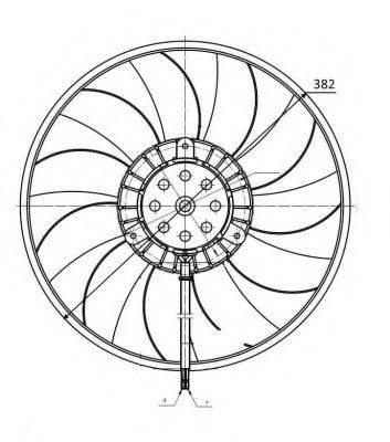 Вентилятор, охлаждение двигателя NRF 47422