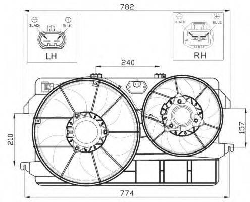 Вентилятор, охлаждение двигателя NRF 47450