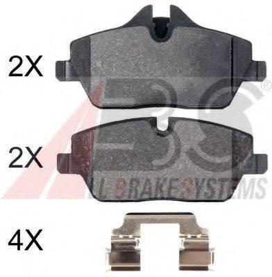 Комплект тормозных колодок, дисковый тормоз A.B.S. 35016