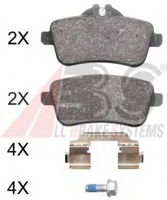 Комплект тормозных колодок, дисковый тормоз A.B.S. 37942