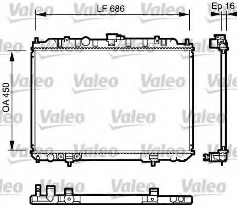 Радиатор, охлаждение двигателя VALEO 735064