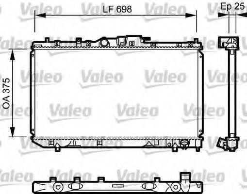 Радиатор, охлаждение двигателя VALEO 735075