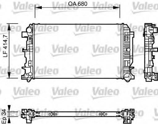 Радиатор, охлаждение двигателя VALEO 735084