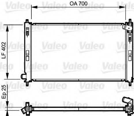Радиатор, охлаждение двигателя VALEO 735200