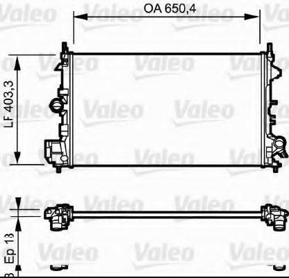 Радиатор, охлаждение двигателя VALEO 734981